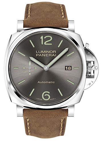 Panerai Luminor Due Sun, quadrante color antracite spazzolato, 42 mm,...