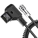 Koolertron D-Tap Kabel 2Pin 14-63 inch, BMPCC 4K Power Kable für Blackmagic Pocket Cinema Kamera 4K BMPCC 4K und Gold Mount V Mount Akku (14-63 inch) -
