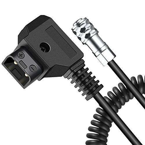 Koolertron D-Tap Kabel 2Pin 14-63 inch, BMPCC 4K Power Kable für Blackmagic Pocket Cinema Kamera 4K BMPCC 4K und Gold Mount V Mount Akku (14-63 inch)