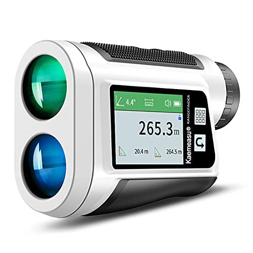 Roeam Golf Laser Entfernungsmesser mit LCD-Farbberührungsbildschirm, 1500m Max Messreichweite, 6X Vergrößerung, Winkelmessung, Geschwindigkeitsmessung, Golf-Pisten-Anpassung