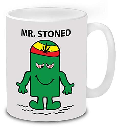 Mr Stoned Novelty Funny Mugs Cannabis Weed Stoner Gifts ...