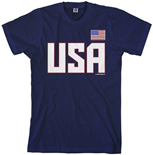 Threadrock Men's USA National Pride T-shirt L Navy