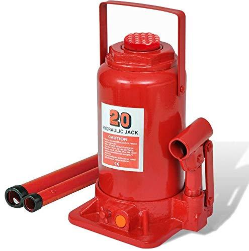 Gato hidraulico de botella 20 toneladas 20000 kg homologacion CE para levantar coches, furgonetas y vehiculos industriales