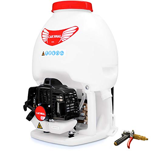 Cardinal 1.8HP Gas Powered Backpack Sprayer 435 PSI Pump 5 Gallon Tank for Liquid Insecticide Pest Control and Foundation Attachment