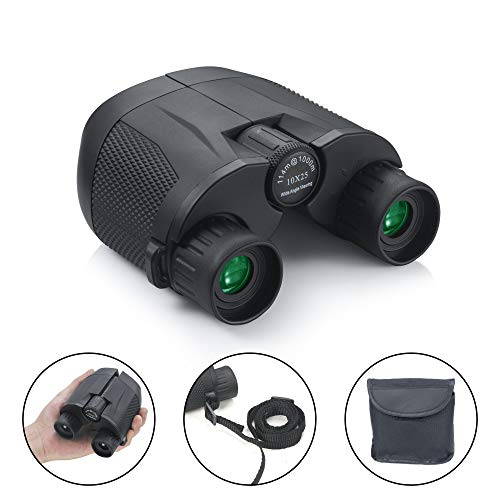 Small Lightweight Binoculars for Adults/Kids, Hima 10x25 Compact Binoculars Hunting Best Bird Watching Glasses Quality Travel Night Vision Portable HD Binoculars for Concerts Hunting Sports