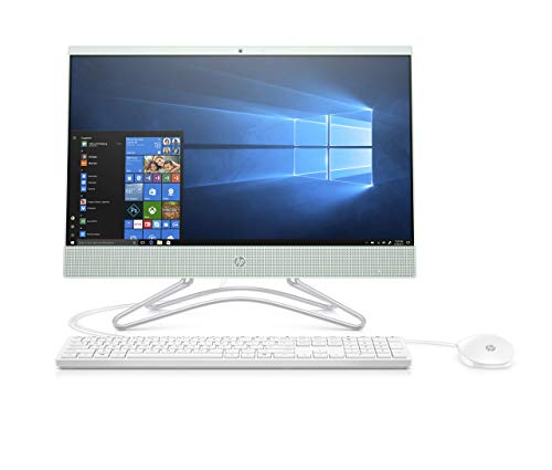 HP 22-c0073w 21.5in All in One PC - Intel Celeron G4900T, 4GB, 1TB, DVDRW, Webcam, Windows 10, Serenity Mint (Renewed)