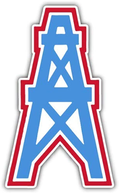 Vinyl Sticker Houston Oilers NFL Football Car Bumper Laptop Water Bottle Window 3 X 5 INCH