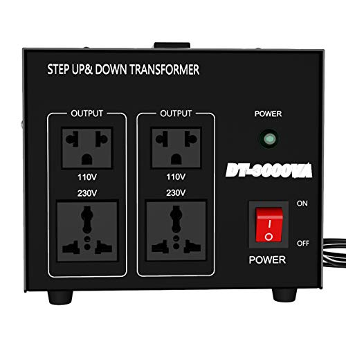 Anbull 3000 Watts Voltage Converter Transformer - Step Up/Down - 110V/220V - Circuit Breaker Protection -Heavy Duty - DT-3000VA