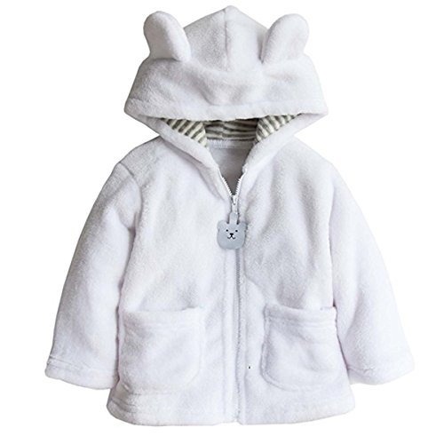 Baby Toddler Kid Little Boys Girls Super Soft Fleece Cartton Bear Hooded Coats Blazers Jackets 6-12 Months