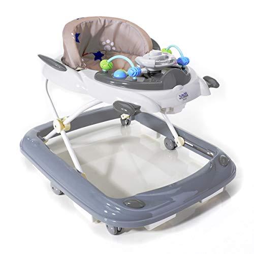 SET Lauflernhilfe mit Sicherheitsstopper & Windel/Lauflernwagen klein zusammenklappbar/Laufhilfe mit Spieleinheit/Gehfrei baby ab 6 Monate bis ca. 15 kg/Kinder Laufwagen für Mädchen & Jungen