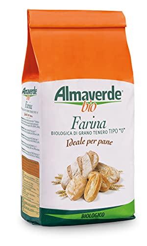 Almaverde Bio Farina di grano tenero Tipo '0' per Pane Biologica. 5 Confezioni da 1 kg.