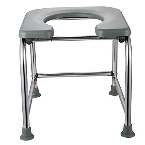 G-LXYZBQSHYP Lichte toiletstoel, mobiele douchecommodestoel, roestvrij stalen frame, ideaal voor ouderen/gehandicapten/patiënten, met afneembare doppen