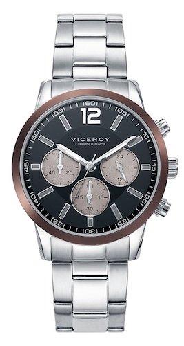 Viceroy Reloj Multiesfera para Hombre de Cuarzo con Correa en Acero Inoxidable 471051-55