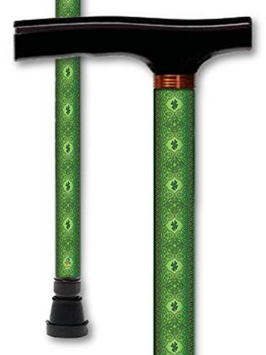 Walking Cane T Handle Derby Irish Celtic Lace Design Adjustable Aluminum Men or Womens Canes
