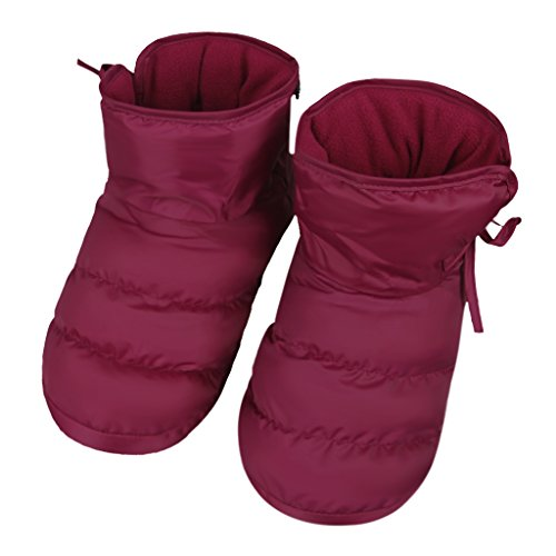 Clobeau Women's Slipper Boots Winter Warm Home Down Bedroom House Slipper Bootie Shoes Red