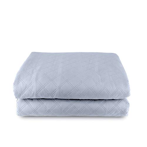 Comfort Electric Blanket Electric Blanket - Double Size Heated Over Blanket with 5 Heat Settings and Auto Shut Off Timer - Plush Bed Throw Blue (Size : 200 * 180cm)