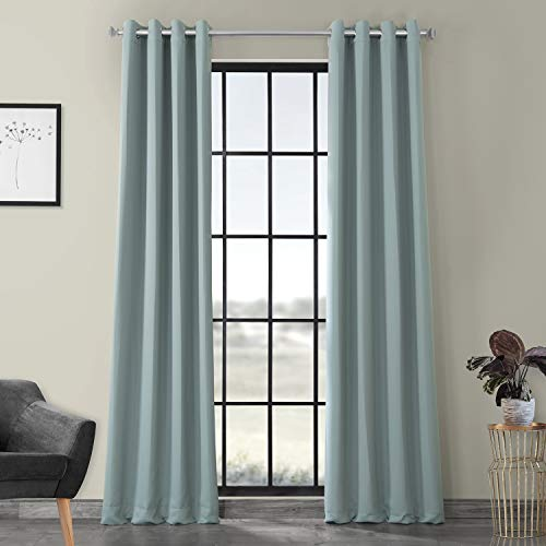 HPD Half Price Drapes BOCH-164712-108-GR Grommet Blackout Room Darkening Curtain (1 Panel), 50 X 108, Juniper Berry