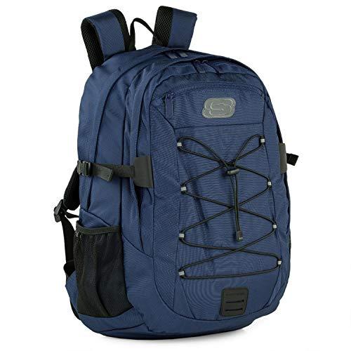 SKECHERS - Casual Rucksack Unisex Laptop Fach innen. Perfekt für den täglichen Gebrauch. Praktischer, komfortabler und vielseitiger S997, Color Stockente Blau