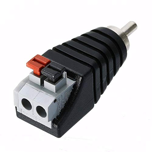 N-B Speaker Wire Cable To Audio Male Cable Professional Jack Press Plug RCA Connector Adapter Cable
