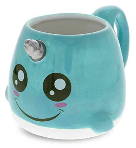 Mugniv Narwhal Sea Unicorn Novelty Mug: Ceramic Cute Coffee Mugs & Tea Cup, Cool & Unique Unicorn Coffee Mug for Coffee Lovers Gifts, Kids Mugs For Hot Chocolate, Narwhal Decor Kitchen Cups - 19.8 Oz
