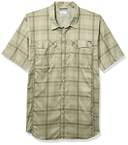 Columbia Men's Silver Ridge Lite Plaid Short Sleeve Shirt, Moisture Wicking, Sun Protection, Safari Large Plaid, XX-Large