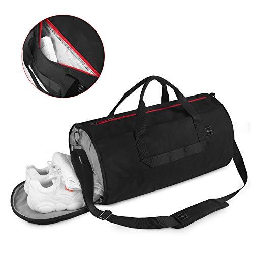 BONTHEE wasserdichte Sporttasche für Damen und Herren Faltbare Reisetasche Sporttasche mit Schuhfach Weekender Tasche