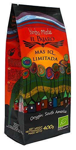 El Pajaro Mas IQ Limitada 400g | Starker, Paraguayischer Mate-Tee | mit Blättern, Zweigen und Staub | mit Gingko Biloba, Guarana, Camu Camu, Bacopa Monnieri, Kaktus