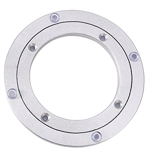 Tabla giratoria giratoria Tabla giratoria Tabla redonda Placa giratoria suave con cojinete de deslizamiento universal para pantallas de ferias de plata 6 pulgadas de plata