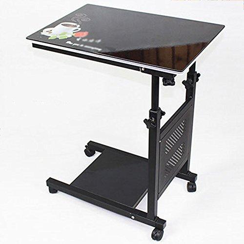 LVZAIXI Ordinateur Portable réglable de Bureau d'ordinateur Portable de meules de Bureau Debout de Tableau de côté pour Le Plateau de Chariot de lit de lit pour la Lecture de Manger (Couleur : 2)