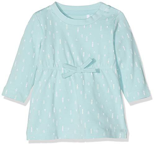 Name IT NOS Baby-Mädchen Kleid NBFDELUCIOUS LS TUNIC NOOS, Blau (Canal Blue), (Herstellergröße: 56)