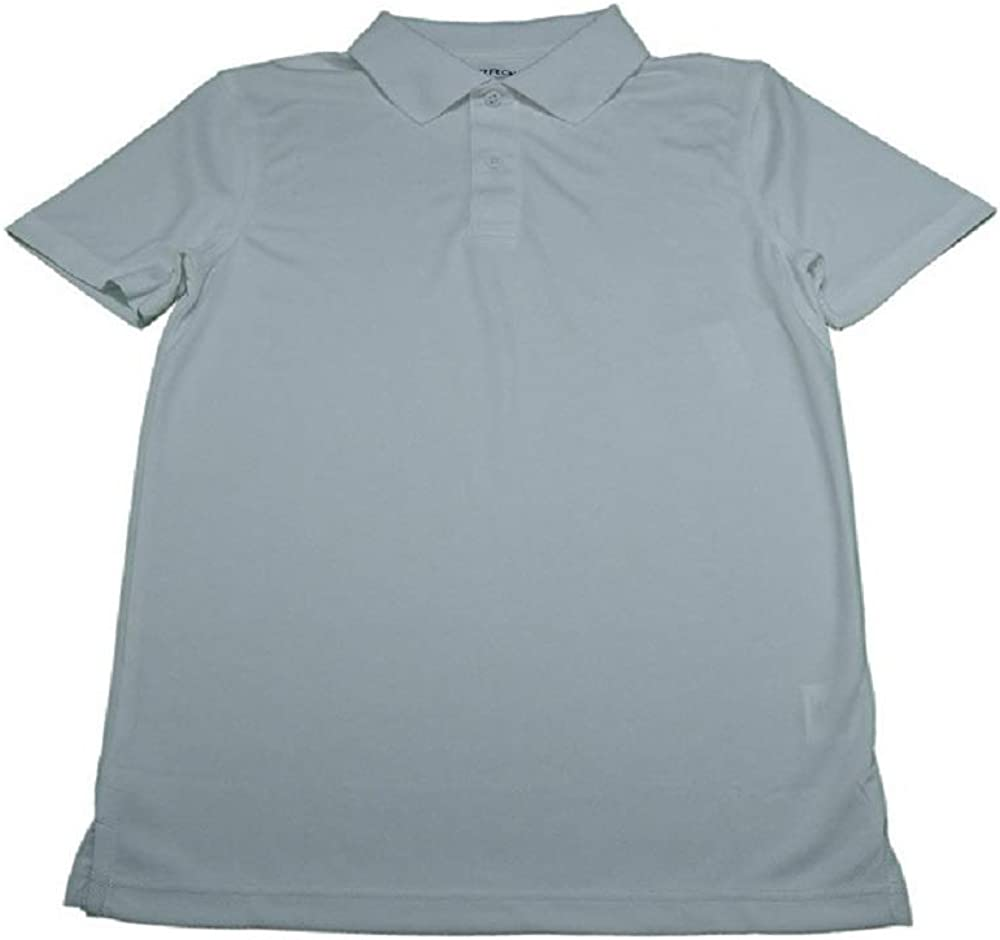 Arrow Boys Size Large (12/14) School Approved Moisture Wicking Polo Shirt, White