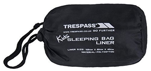Trespass Kids Slumber - Sábanas de Saco de Dormir de Acampada Infantil, Color Gris