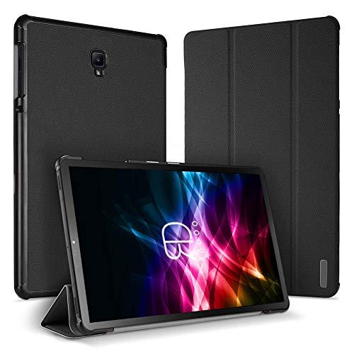 Radoo Funda para Galaxy Tab S4 10.5 Pulgadas con Soporte Incorporado de Pencil Original,Premium Cubierta Ligera Stand Fución Case Cover Protector con Auto Estela/Sueño (Negro)