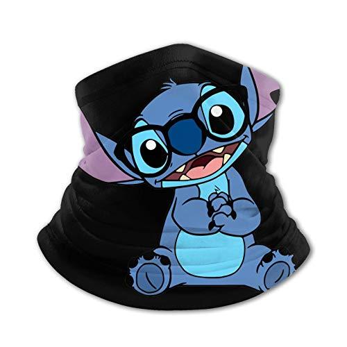 ZVEZVI Stitch Wears - Gafas para niño, bufanda cálida, lavable, pasamontañas para niña