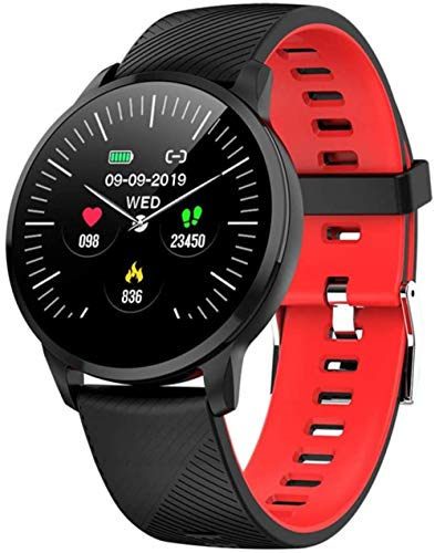 TYUI Reloj inteligente para hombre y mujer con frecuencia cardíaca, presión sanguínea y sueño, compatible con teléfonos Android e iOS D.