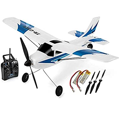 Top Race Rc Plane 3 Channel Remote Control Airplane Ready to Fly Rc Planes for Adults, Easy & Ready to Fly, Great Gift Toy for Adults or Advanced Kids, Upgraded with Propeller Saver (TR-C285G) from Top Race