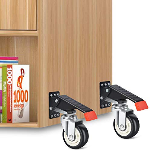 SPACEKEEPER Workbench Casters Kit 880 Lbs - 3 Inch Heavy Duty Retractable Caster Designed for Workbenches Machinery & Tables, 4 Pack