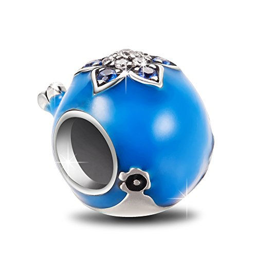 NINAQUEEN Charm fit Pandora Charms Blue Whale Women's Jewellery Best Gifts with Jewellery Box 925 Sterling Silver Antibacterial Properties