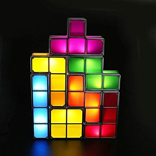 ZUQIEE Las Luces de los niños increíble Tetris Forma Juego Retro apilable...