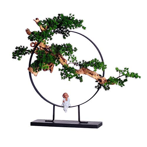 Plantas Artificiales Artificial Bonsái - Decoración planta falsa, artificial en maceta Plantas, Plantas Bonsai Japanese pino, for la decoración, la pantalla del escritorio Hogar Oficina Decoración