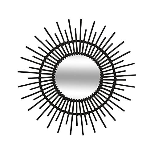 Espejo Sol RATÁN Ø76CM Black