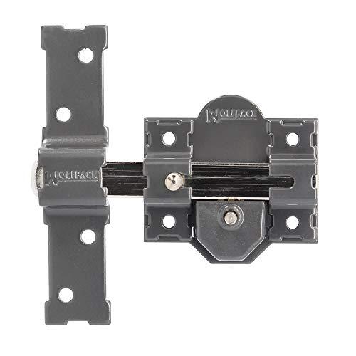 WOLFPACK LINEA PROFESIONAL 3102135 Cerrojo b-7 Llave y pulsador Pasador de 143mm Cilindro de Pera de 50mm