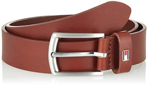 Tommy Hilfiger Kids Leather Belt Set di accessori invernali, Brown, L-XL Bimbo