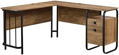 Sauder Station Fixed price for sale House L Our shop OFFers the best service Shaped Wooden in Desk Oak Etched Writing
