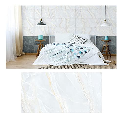 ZHANGDONG 10 Hojas de Paneles de Pared para Azulejos Baño PVC Mármol Decorativo Pelar Y Pegar Adhesivos de Pared para Azulejos de Metro de Cocina Impermeables 30x60 Cm (11,8x23,6 Pulgadas