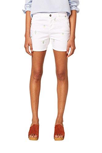 ESPRIT Damen 058EE1C005 Shorts, Mehrfarbig (White 100), 34
