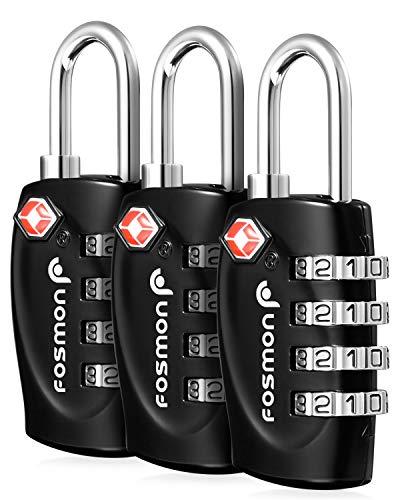 Fosmon Cadenas pour Bagage à Code 4 Chiffres pour...