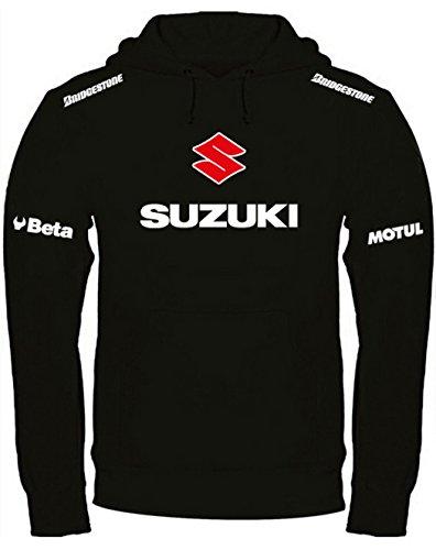 Print & Design Sweatshirt Suzuki Kapuzenpullover personalisierte handgefertigt (XL, Schwarz)