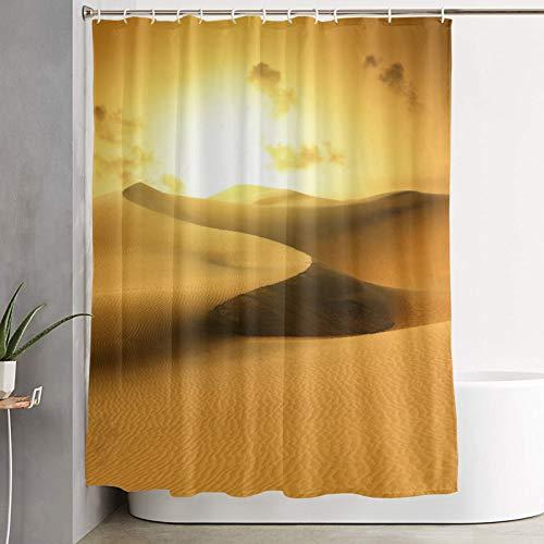 KGSPK Cortinas de Ducha,Desierto de Oro al Atardecer. Canarias, Canarias,Cortina de baño Decorativa para baño,bañera 180 x 180 cm