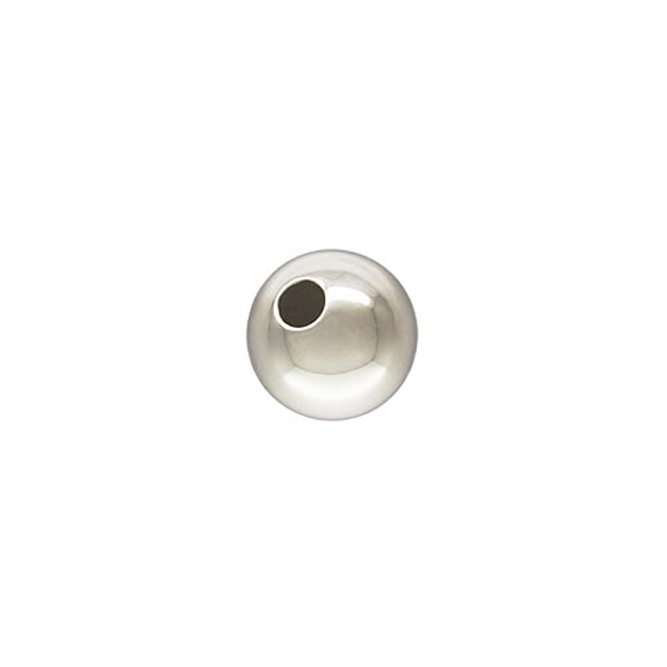 50 Qty. 6mm Round Sterling Silver Bead with 1.8mm hole.925, by JensFindings